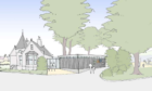 An artist's impression of the Gate Lodge extension.
