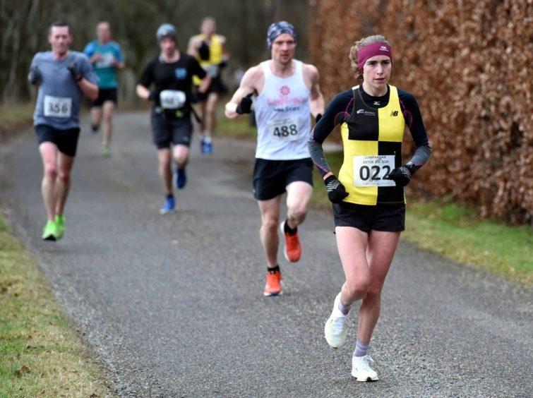 Lumphanan Detox 10k - Women winner Ginie Barrand. Picture by COLIN RENNIE
