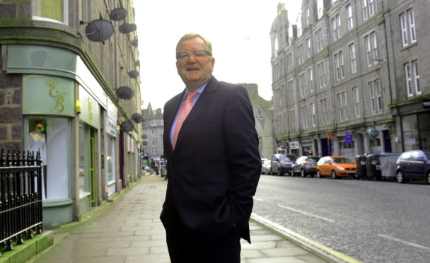 Interim Conservative leader, Jackson Carlaw visiting Aberdeen to discuss business rates with industry bosses. Picture by Jim Irvine.
