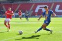 Ryan Giles playing for Shrewsbury Town.