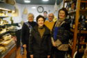 (L-R) Jill Clark, Connage Highland Dairy; Mairi Gougeon MSP; cheesemonger Rory Mellis; Callum Clark; Jane Stewart, St Andrews Cheese