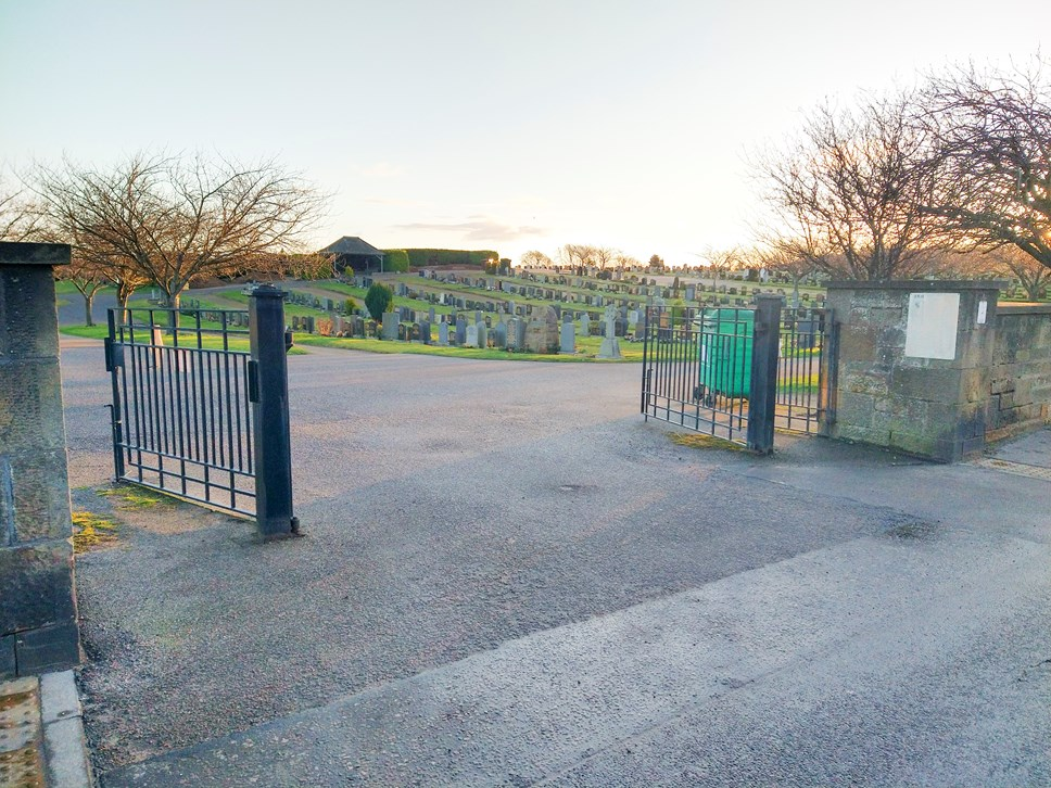The vehicle gate to the Elgin cemetery from Linkwood Road will remain closed.