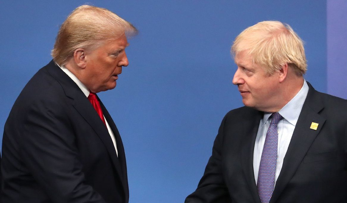 Ps in a pod? PM Johnson rejected claims he is behaving like President Trump.