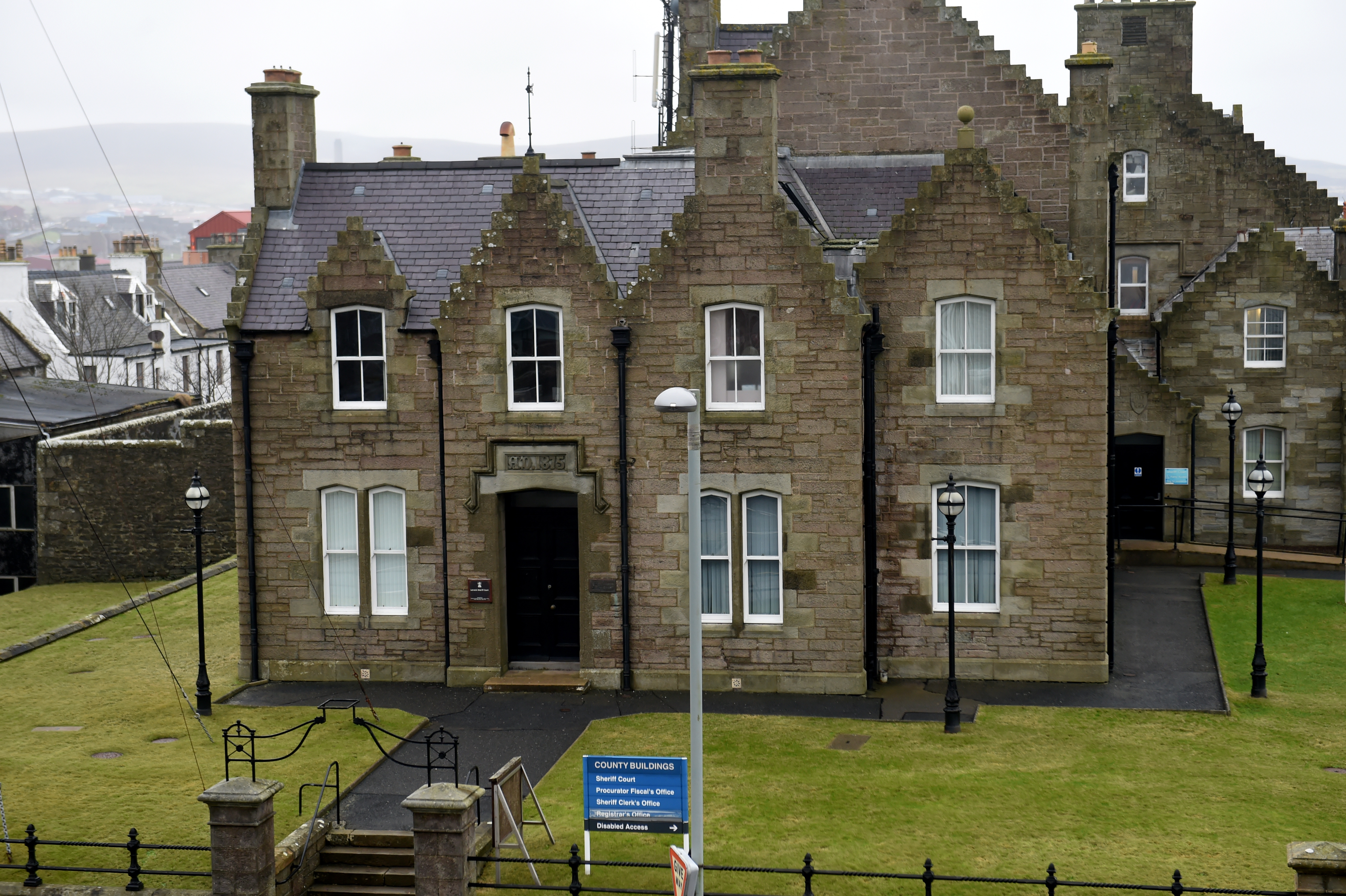 Lerwick Sheriff Court, on King Erik Street. Picture by Kenny Elrick