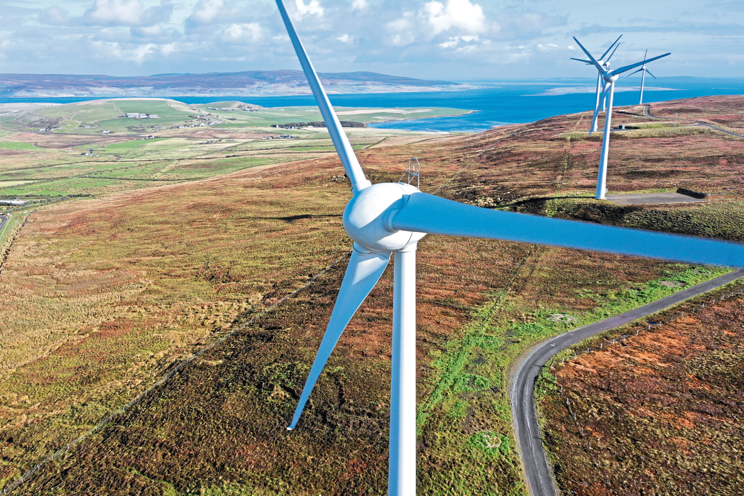 Wind turbines in Orkney Picture: Colin Keldie