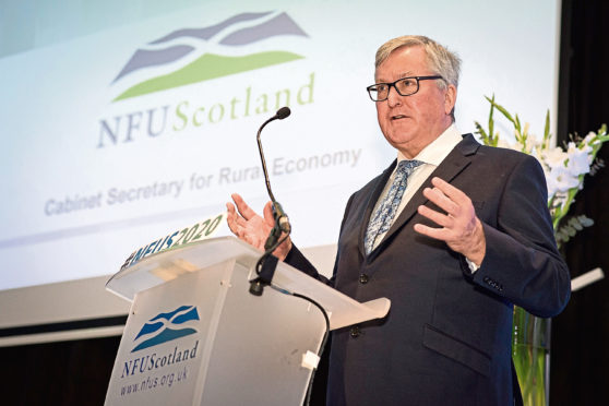 Fergus Ewing at the NFU Scotland conference in Glasgow.