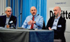 Press and Journal Business Breakfast - Mergers and Acquisitions - held at the Chester Hotel in Aberdeen. The Panel - Mike Sibson, Mike Beveridge and Daniel Grosvenor.. Picture by COLIN RENNIE