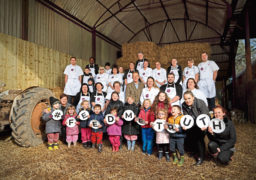 Co-operative Childcare chefs on Happerley's Gloucestershire farm with Adam Henson and local nursery children.