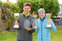 Last year's BHGE 10K male and female winners, left to right, Cameron Strachan and Fiona Brian. Picture by Kenny Elrick