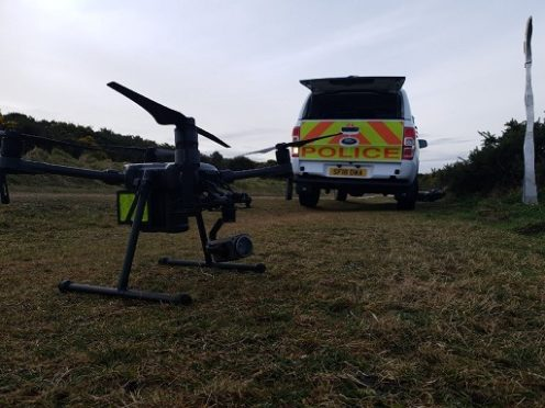Police are using specialist drone equipment in the search for missing man John Loughrie.