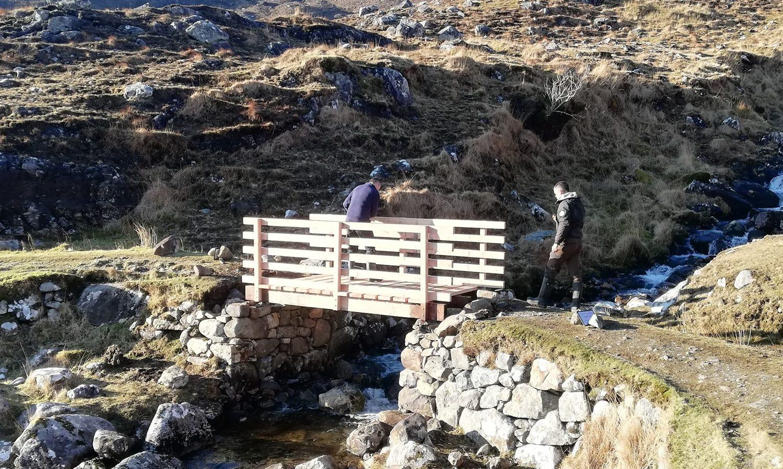 Repair work on the Postman's Path, a legendary scenic path from Urgha to Reinigeadail on Harris.