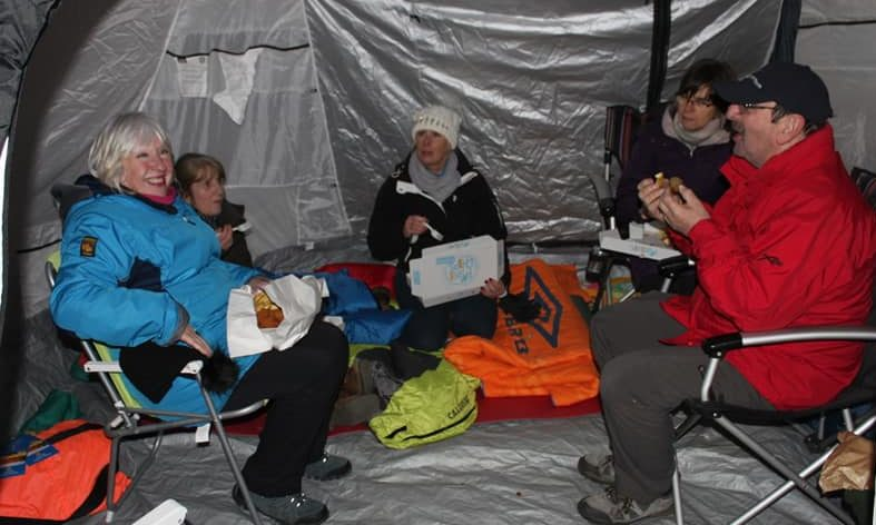 The Ythan Valley Rotary club during a Sleep Out event earlier this year