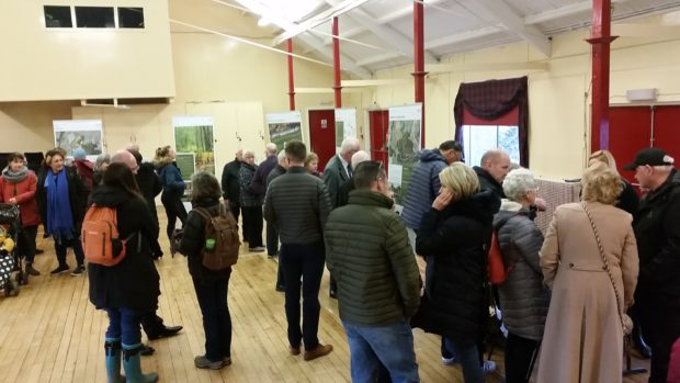 Residents viewing the plans