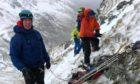The Lochaber Mountain Rescue Team during a rescue on Glen Nevis.
