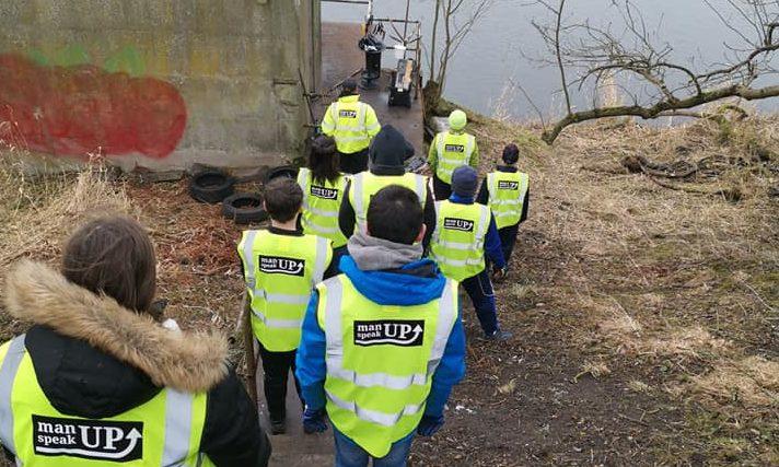 Volunteers taking part in the Muggiemoss Riverside Project