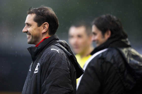 Jackie McNamara and Paul Hartley during a pre-season friendly at between Alloa Athletic and Partick Thistle.