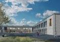 Artist impressions of the new Alness Academy.