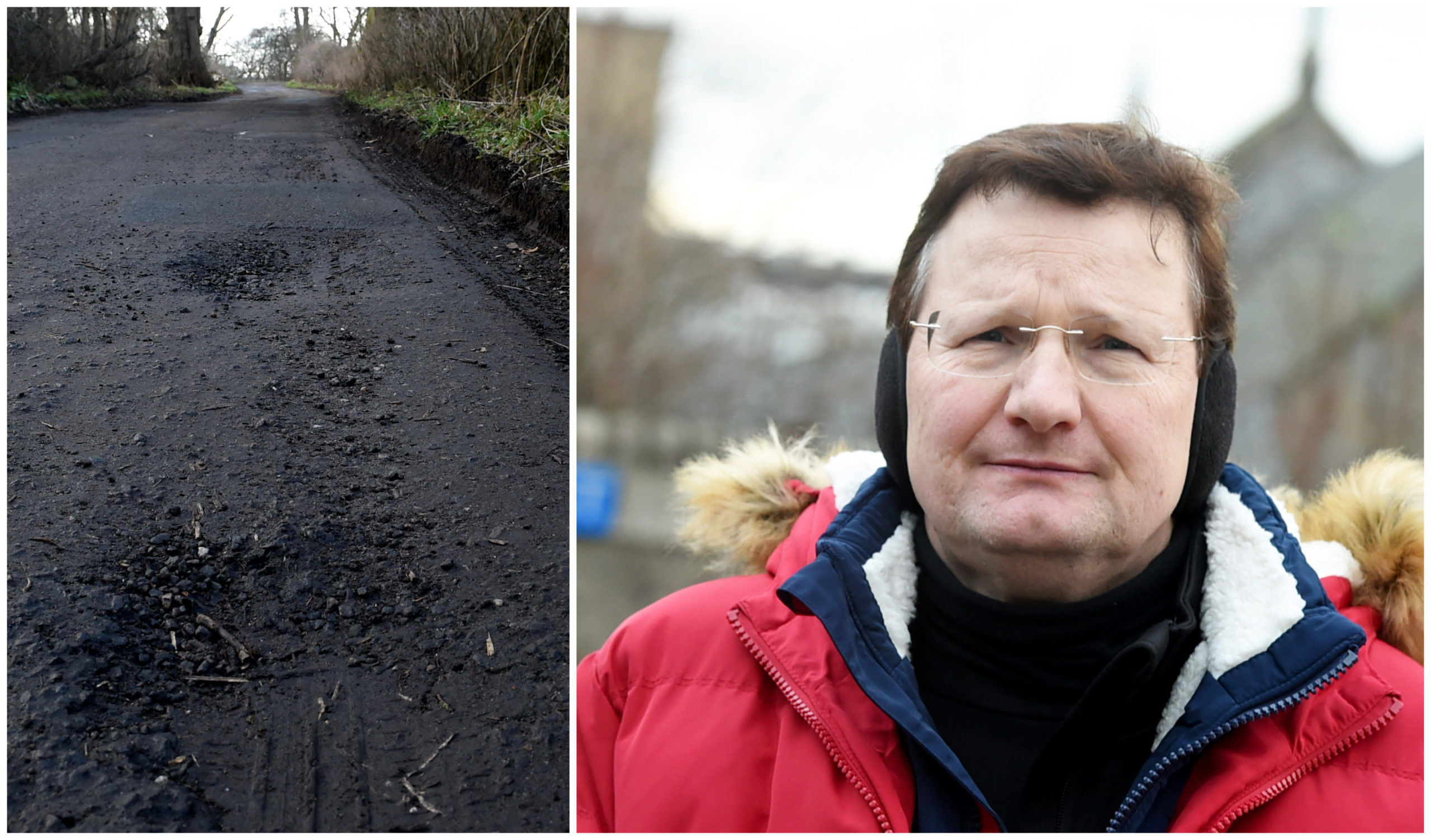 Markus Auffermann from Woodside Parish Church has criticised the road leading to Persley Castle Nursing Home