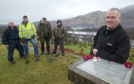 Lochaber Historian Robert Cairns (right) with a group of metal detectorists mark the 350th anniversary of the Battle of Inverlochy on the ridge thought to be used by the Duke of Argyll's forces.