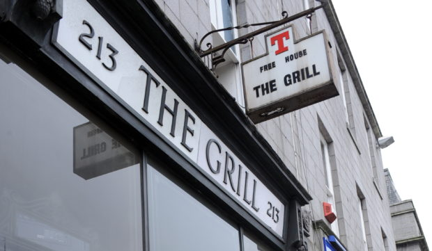 The Grill bar on Union Street.  Picture by Colin Rennie.
