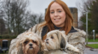 Stacey Toner with pets Maggie and Meryl.