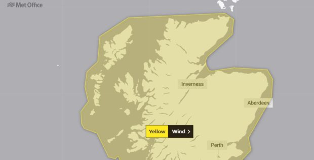 The Met Office has issued a yellow warning as Storm Dennis approaches.