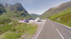 Three Sisters Park on the A82 where a landslip has taken place.