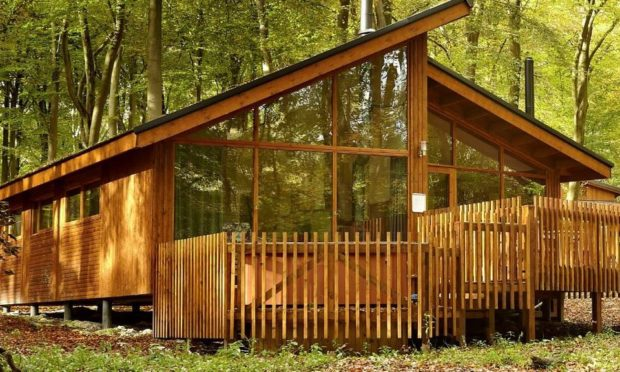 An example of Forest Holidays timber cabins