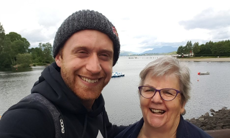 Danny MacAskill and his mother Anne have an adventurous spirit.