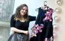 Student Lauren Hilton shows off her completed design. Picture by Chris Sumner