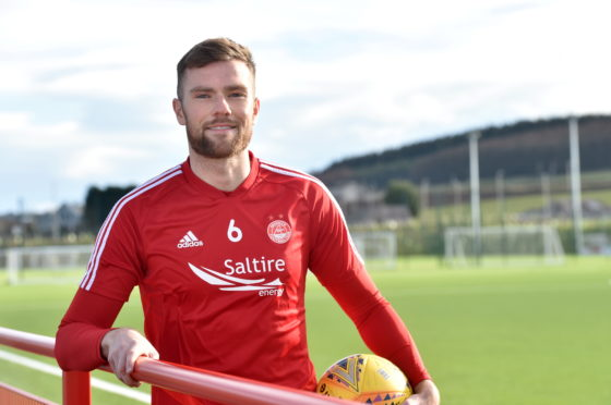 Aberdeen defender Mikey Devlin.