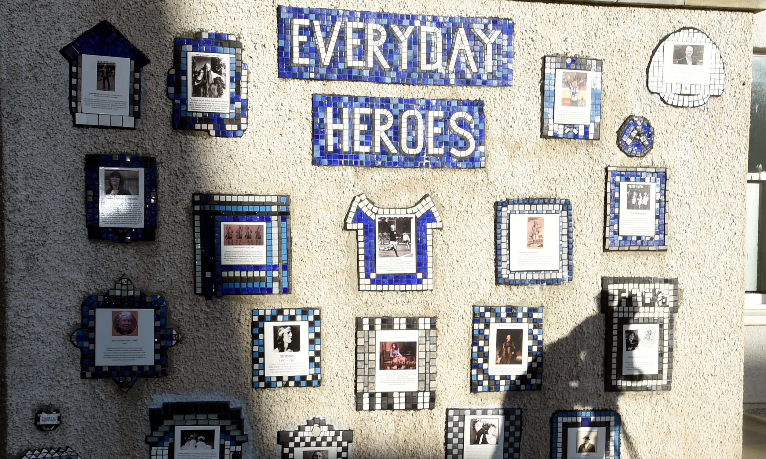 The updated Everyday Heroes mural on Flourmill Lane