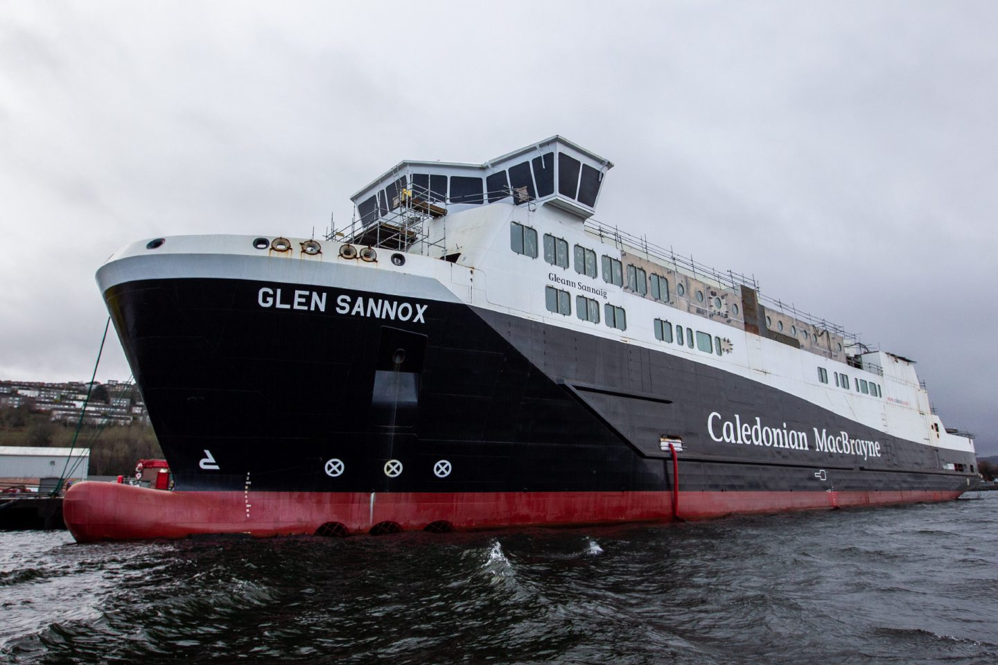One of the two Calmac ferries being built at Ferguson Marine in Port Glasgow.