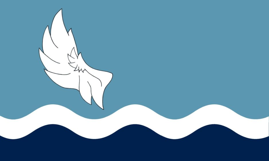 Flag 1: Stanley Bird from Edinburgh came up with this design.