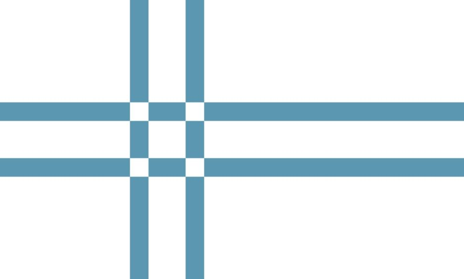 Flag 3: Rory Flyn from Sleat's entry depicts a distinctive take on a traditional Nordic cross.