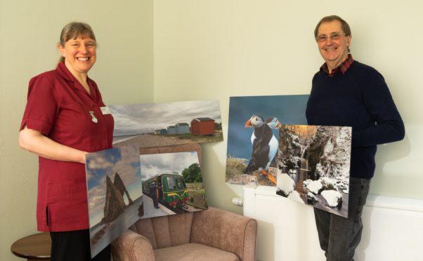 Duncan Rennie with Glenisla activities coordinator Catherine Ellwood.