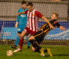 Michael Clark in action for Formartine United.