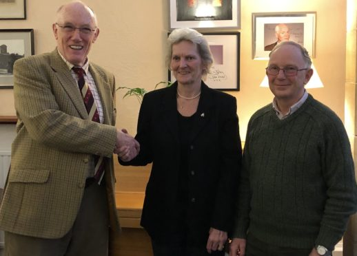 Former chairman of Anderson's board of governors Dr David Evans, new chairwoman Issie Graham, vice-chairman Iain Jamieson.