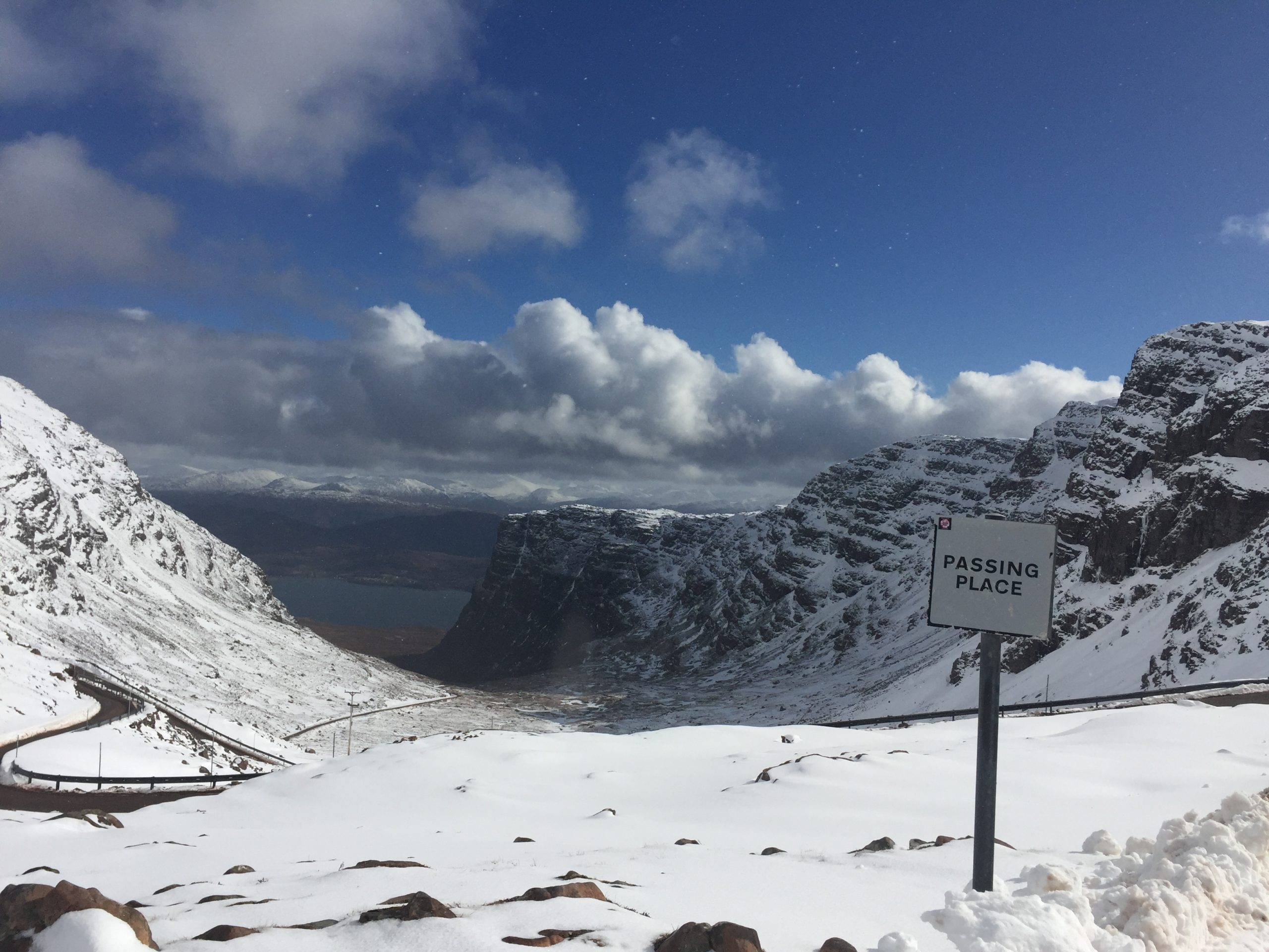 The Bealach Na Ba is currently closed due to snow