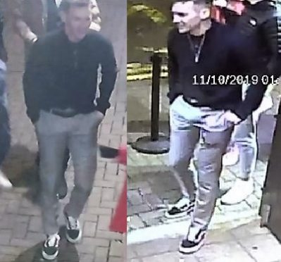 Police released these images in relation to the assault.