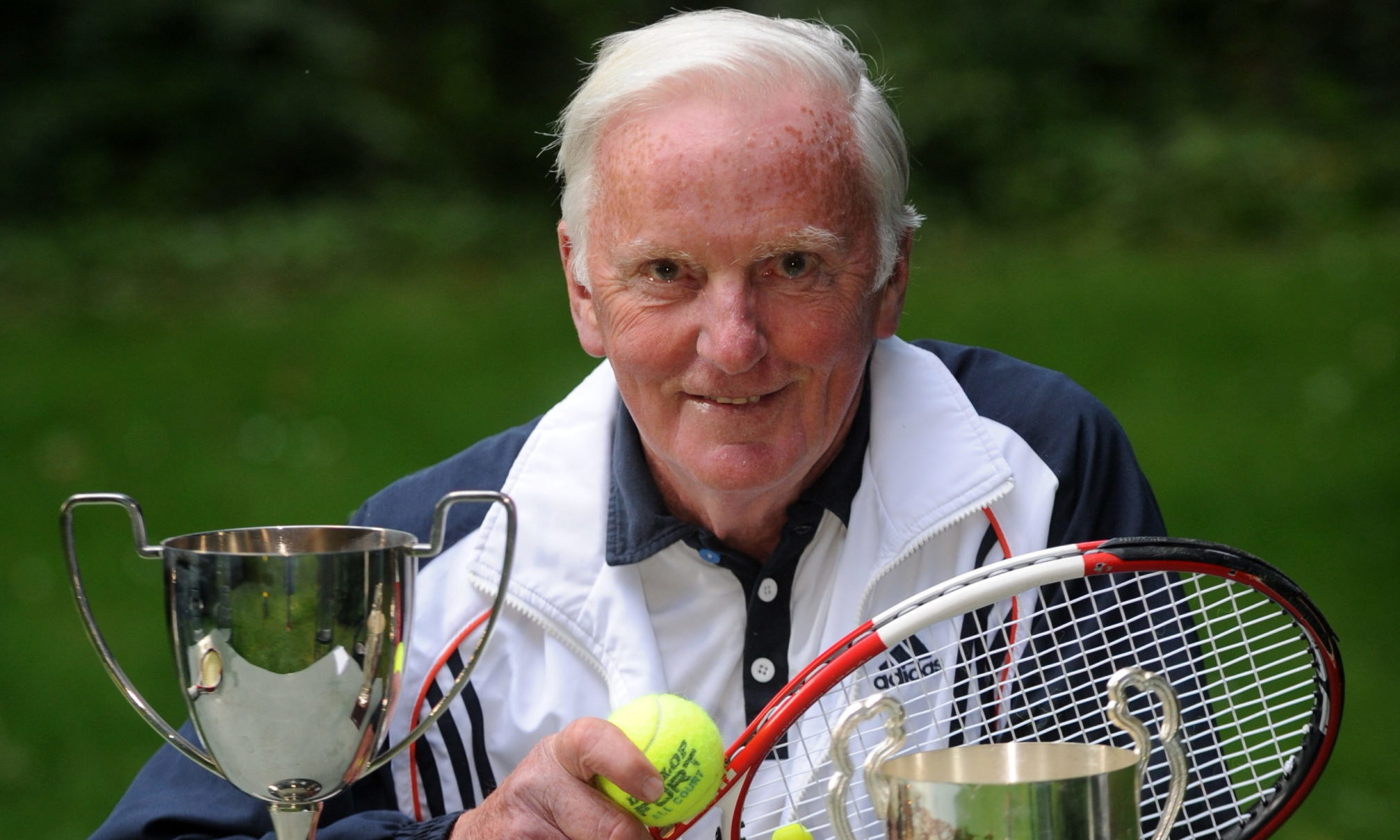 Jimmy Wood, the legendary Aberdonian tennis player who died aged 85 earlier this year.