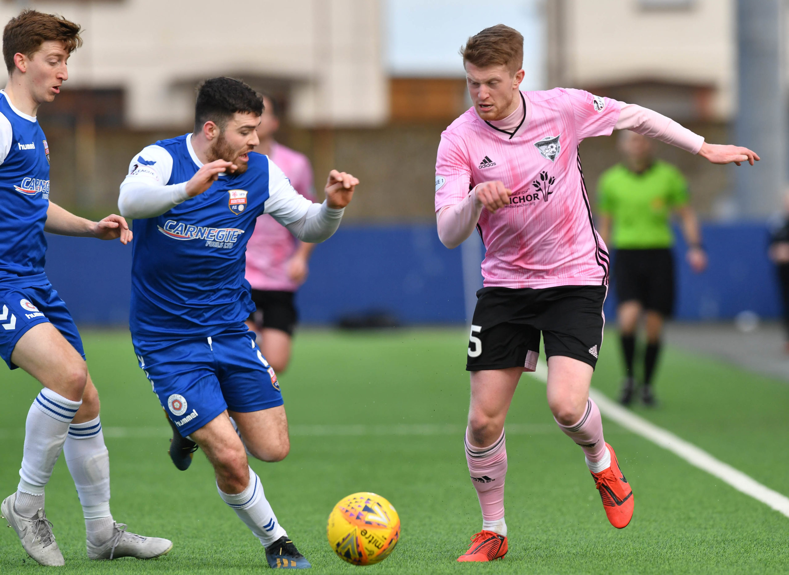 Alan Cook, right, in action for Peterhead