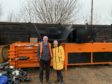 Gillian Martin MSP and Brian Reid, Operations Manager at Wood RecyclAbility.
