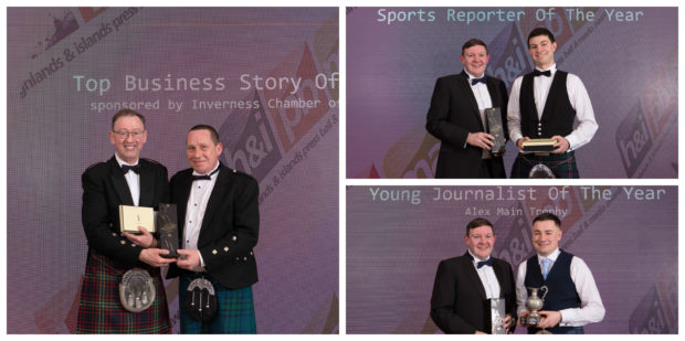 Stan Arnaud, Andy Skinner and Chris MacLennan all scooped awards at the Highlands and Islands Media Awards