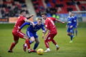 John Robertson in action against Brechin City.