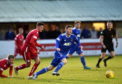 Mitch Megginson was on target again against Albion Rovers.