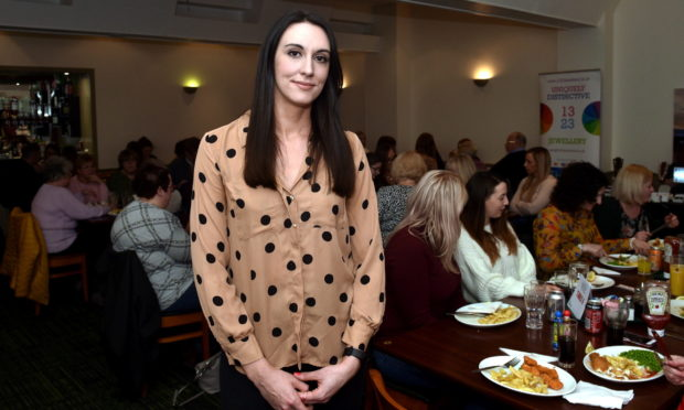 Miscarriage Information Support Service (MISS) chairwoman Abi Clarke at a fundraiser to celebrate the organisation's third birthday at The Ashvale, Great Northern Road, Aberdeen. Picture by Darrell Benns.