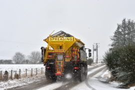 Gritter out near Alford. Picture by DARRELL BENNS