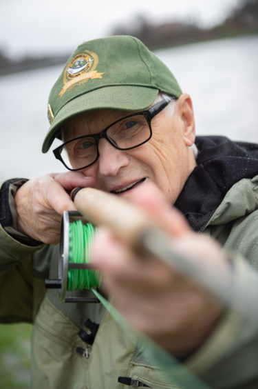 Melvin John Smith, the oldest fishing member of Inverness Angling club, had the honour of carrying out the first cast. Picture by Jason Hedges