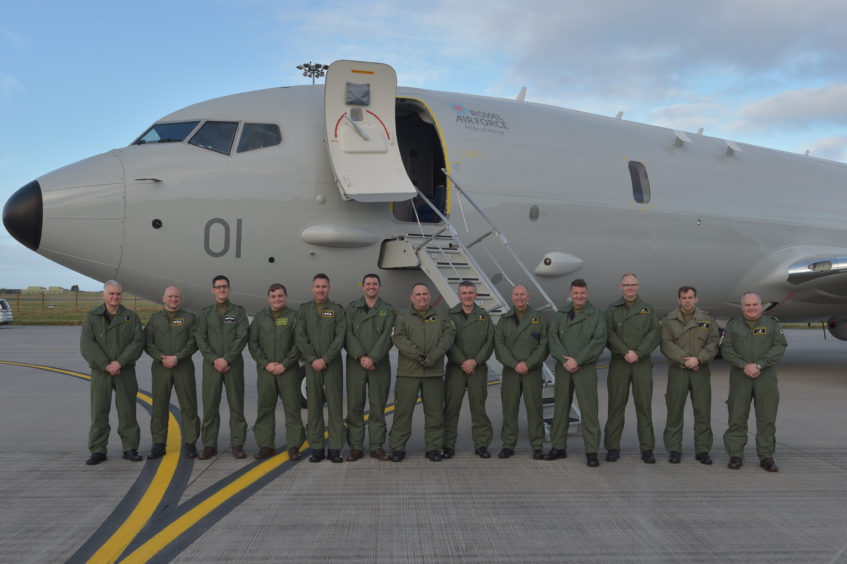 The first P-8 Poseidon plane has arrived at Kinloss Barracks. Pictures by Jason Hedges